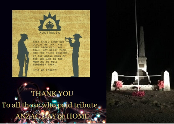Images from the Community - Nabawa Cemetery ANZAC Day